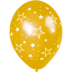 Latex Balloons Stars All Over Gold 27.5 cm/11''