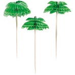 12 Picks Palm Tree Honeycombs Wood 10.1 cm
