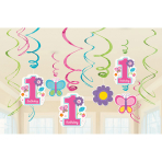 12 Swirl Decorations Sweet Birthday Girl
