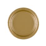 8 Plates Gold Paper Round 17.7 cm