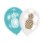 "6 Latex Balloons Pineapple Vibes 27.5 cm / 11"""