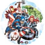 """Standard """"Avengers"""" Foil Balloon Round, S60, packed, 43cm"""