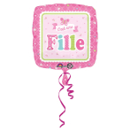 Standard Welcome c'est une fille Foil Balloon S40 Packaged 43 cm
