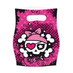 6 Loot Bags Pirate Girl