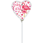 "9""/23cm Flamingo Baby Girl    Foil Balloon A15 bulk"