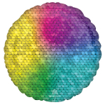 Standard Rainbow Sequins Foil Balloon S18 Packaged