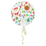 Standard Merry Christmas IconsFoil Balloon S40 Packaged