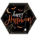 8 Plates Halloween Hexagon Shaped 23cm