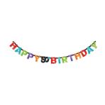 Foil Banner Chevron Birthday 50 213 x 16 cm