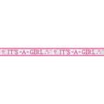 "Foil Banner Baby Shower ""It's a Girl"" 6.35 m"