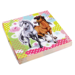 20 Napkins Charming Horses 2 33 x 33 cm