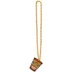 Bead Chain with Plastik Shot Glass Hawaiian 50.8 cm/59 ml