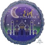 "Standard ""Eid Mubarak"" Foil Balloon, round, S40 Packaged"