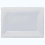 3 Platters Plastic 33 x  23 cm Clear