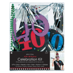 Party Kit 40th Birthday Paper / Plastic / Foil 6 Pieces 73.4 x 7.2 cm / 26.5 cm