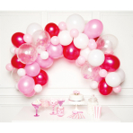 DIY Balloon Garland Pink 70 Balloons
