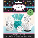 6 Label Kits Silver