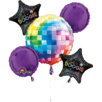 Bouquet Disco Fever 70's Foil Balloon P75 Packaged