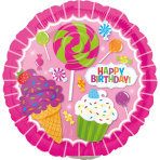 9'' SweetShop Birthday Foil Balloon Round A15 Bulk 23 cm