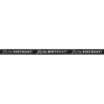 Foil Banner Birthday Accessories Black & White 762 cm