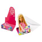8 Invitations Barbie Sparkle