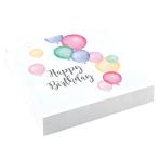 20 Napkins Happy Birthday Pastel 33 x 33 cm