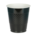 50 Cups Black Plastic 473 ml