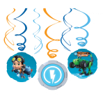 6 Swirl Decorations Rusty Rivets
