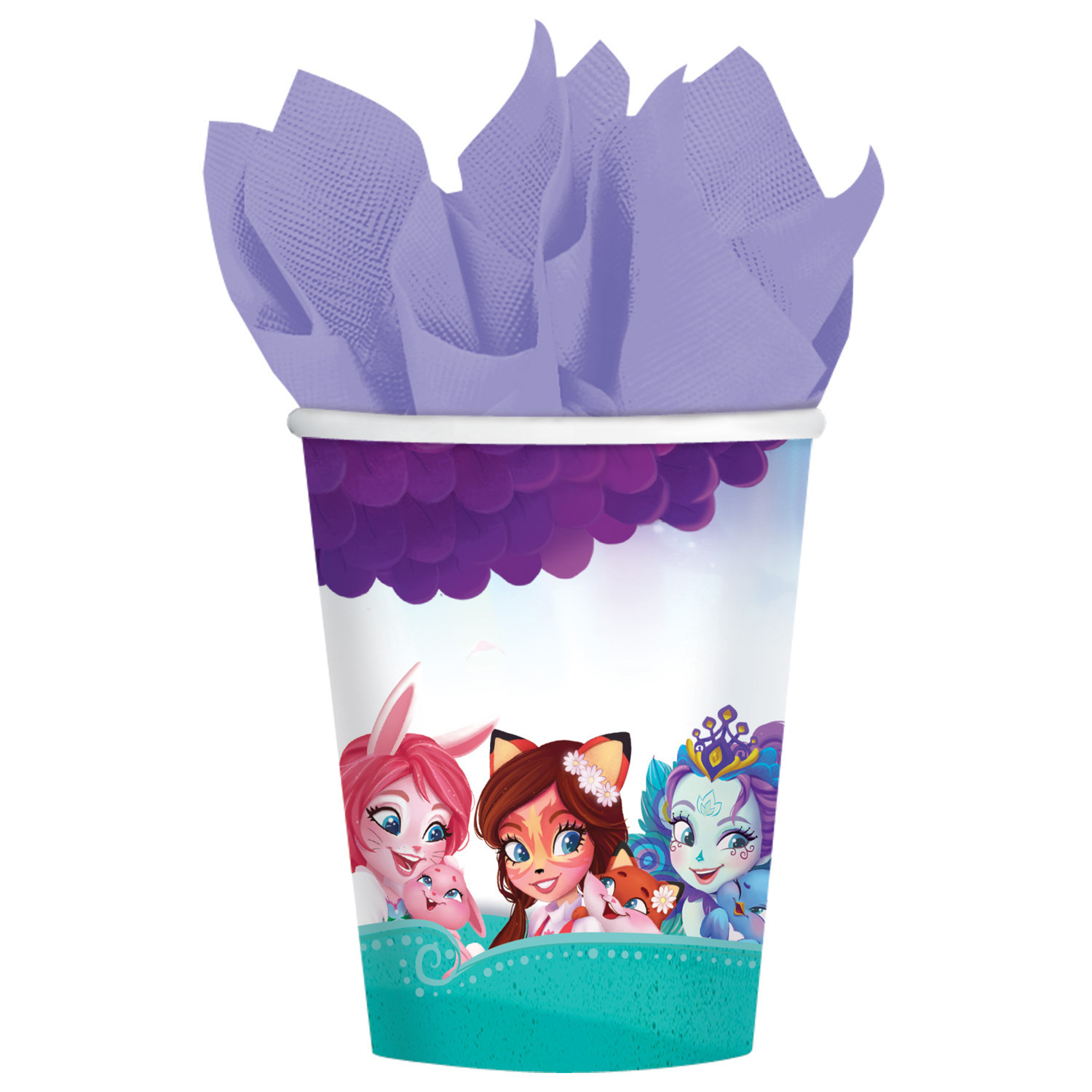 8 Cups Enchantimals Paper 250 ml : Amscan Europe