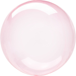 Clearz Crystal Dark Pink Foil Balloon S40 bulk