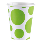 8 Cups Kiwi Dots Paper 266 ml