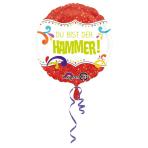 Standard Du bist der Hammer Foil Balloon round S40 packed 43 cm