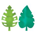 8 Cutouts Palm Leaves Foil 40.6 cm
