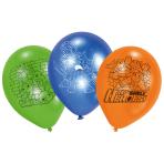 "6 Latex Balloons Half Shell Heroes 22,8cm/9"""