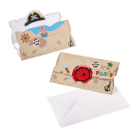 8 Invitations & envelopes Pirate