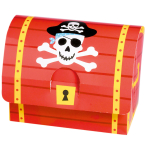 8 Paper Card Favour Boxes Pirates Treasure 8.2 x 10.7 x 6.3 cm