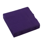 20 Beverage Napkins Purple 25 x 25 cm