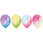 4 Latex Balloons LED Firework 27,5 cm/11''