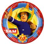 8 Plates Fireman Sam 2017 Paper Round 22.8 cm