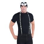 Accessory Costume Suspenders Black & Bone One Size