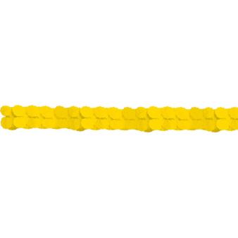 Garland Sunshine Yellow Paper 365 cm