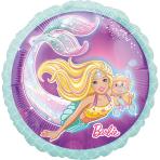 Standard Mermaid Barbie Foil Balloon S60 packaged