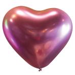 "50 Latex Balloons Decorator Heart Satin Luxe Flamingo 30 cm / 12"""