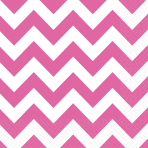 20 Napkins Bright Pink Chevron33 x 33 cm