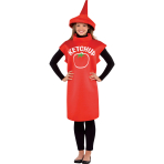 Adult Costume Ketchup Bottle Size M/L