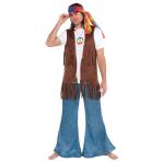 Vest Hippie Peace Long One Siz