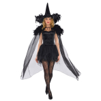 Cape Feathered Witch One Size