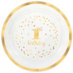 Platter 1st Birthday Plastic Round 40 cm