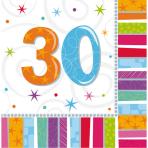 16 Napkins Radiant Birthday 30 33 x 33 cm