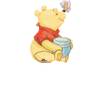Mini Shape Winnie the Pooh Full Body Foil Balloon A30 Air Filled